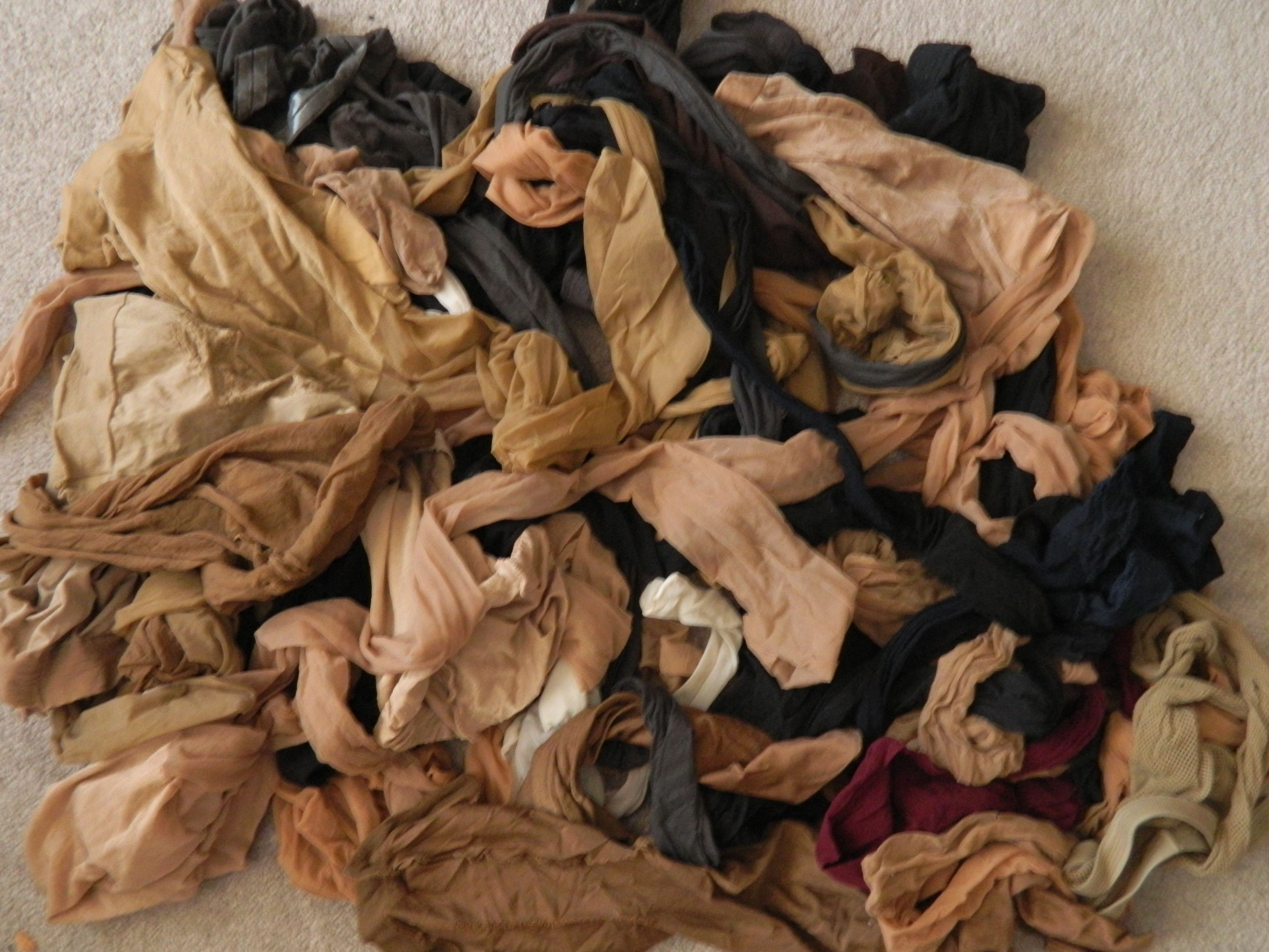 Pile of pantyhose what