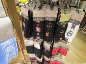 Estonian Suva brand pantyhose with ethnic designs