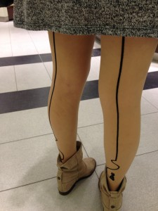candid pantyhose photo in vancouver backseam