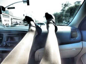 wearing Idalia pantyhose in Hollywood Rodeo Drive