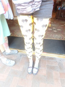 Micky Mouse leggings at Disneyland