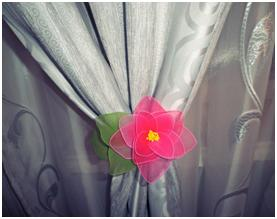 flower pantyhose on a curtain - decoration