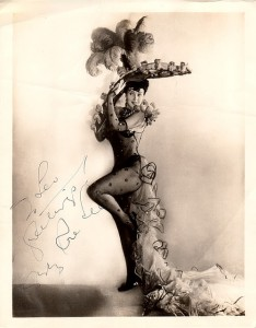 gypsy rose lee photo in bodystockings and a fancy hat