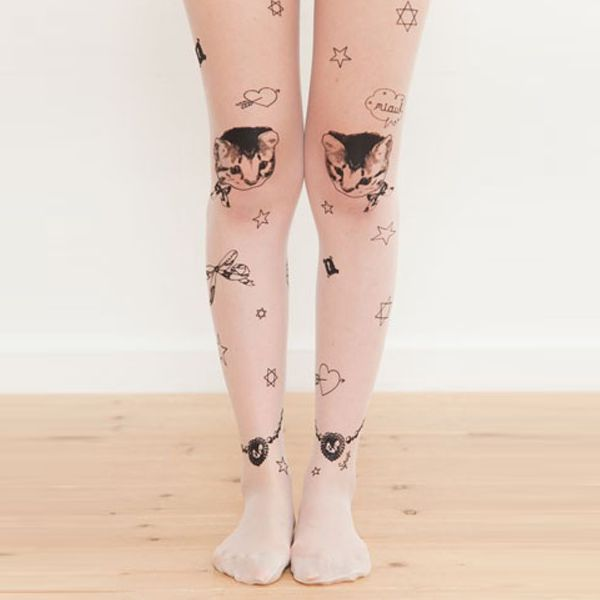 jewish pantyhose with funny cats and magen david stars
