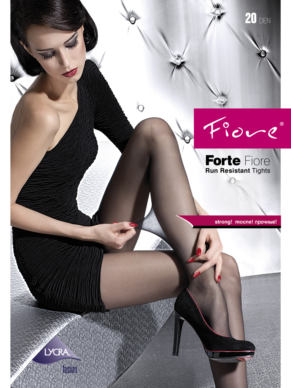 FORTE 20 den run resistant tights by Fiore, durable pantyhose