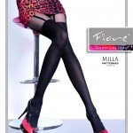 mock stocking pantyhose by Fiore - imitation suspender tights