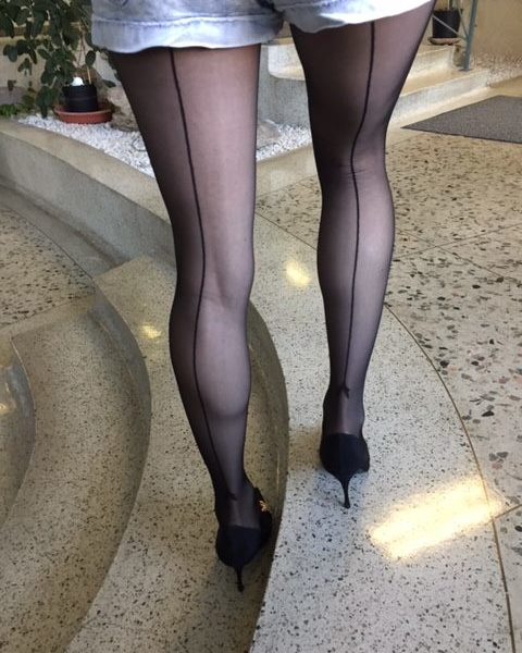 Miriam tights by Fiore with a backseam on me 2