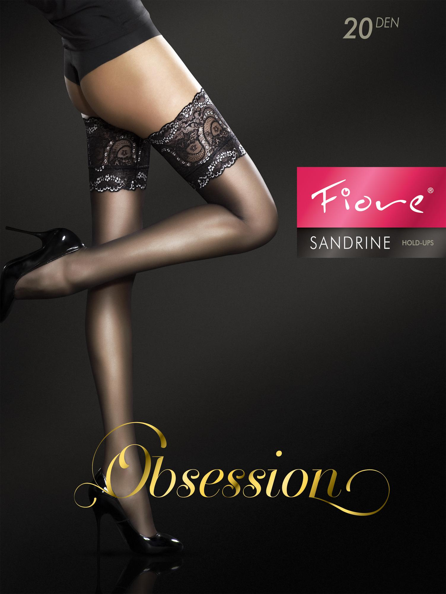 SANDRINE 20 den stay up stockings by Fiore