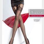 mock stocking pantyhose with imitation suspender lines