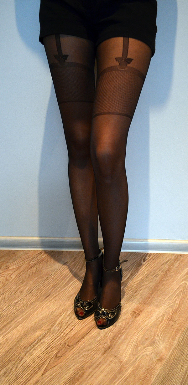 Sheila pantyhose on the thigh - hold up imitation pattern 2