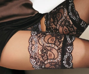 sandrine fancy lace stockings