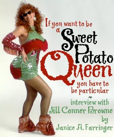 Sweet Potato Queen in pantyhose