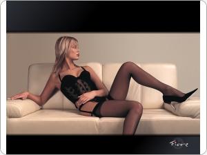 Fiore stockings and garter belt