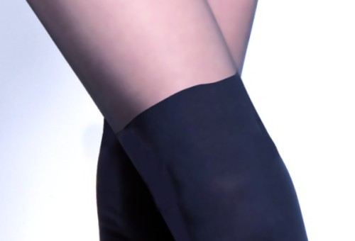 Miguela Tights With A Hold-up Imitation Pattern close up