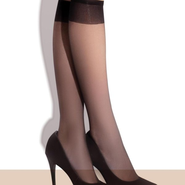 POLA 15 den sheer knee high socks by Fiore trouser socks