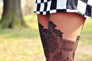 Taya pantyhose on a blogger