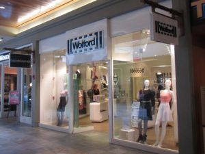 Hawaii - Ala Moana center, Wolford boutique store front
