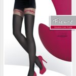mock stocking tights, imitation, faux garter, 60 den