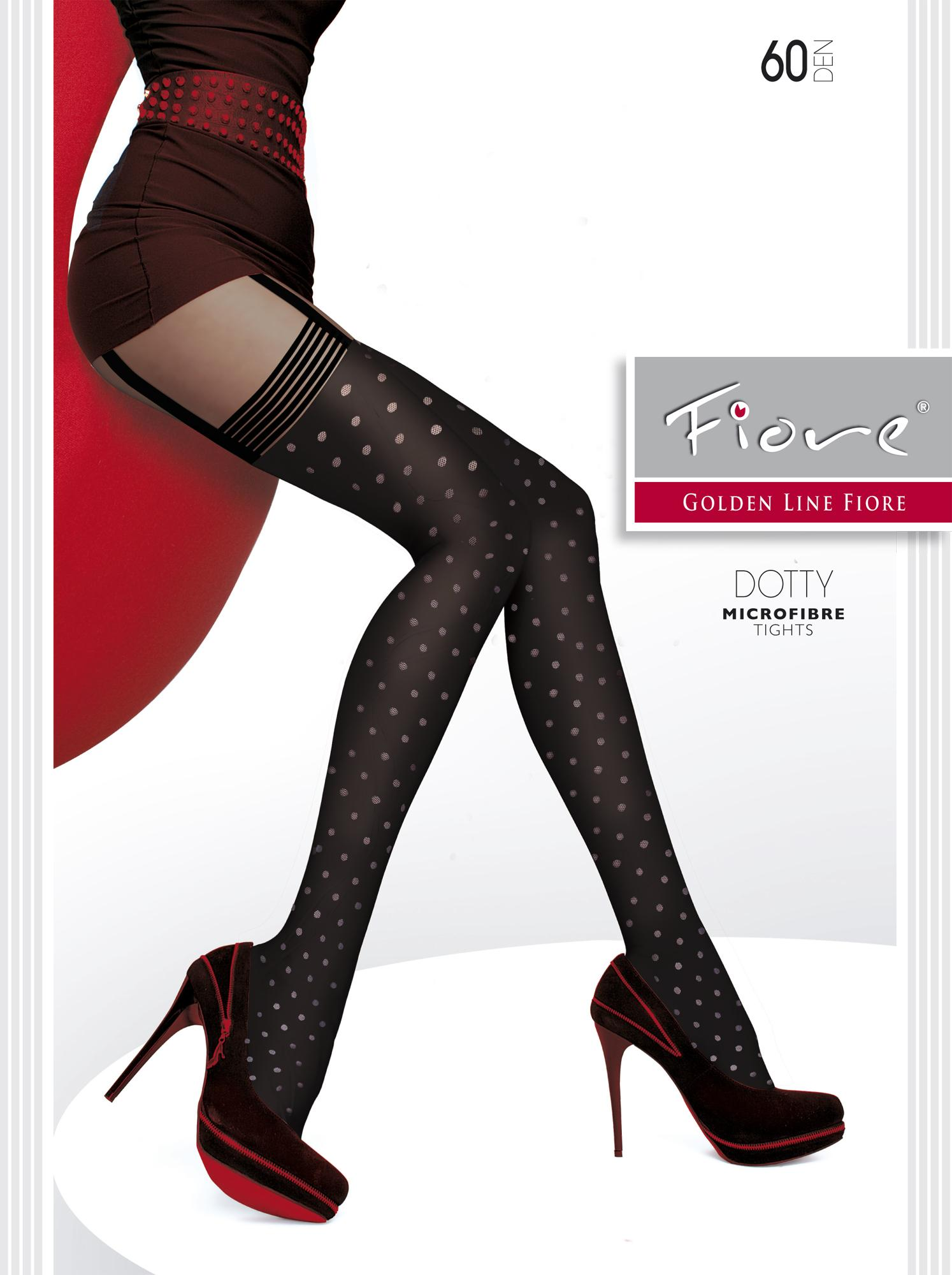 DOTTY 60 den tights with polka dots