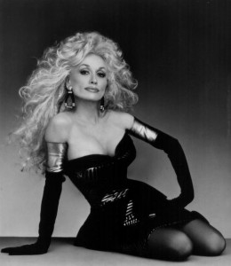 Dolly_Parton in black pantyhose