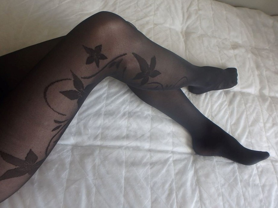 Lucine tights by Fiore on my legs