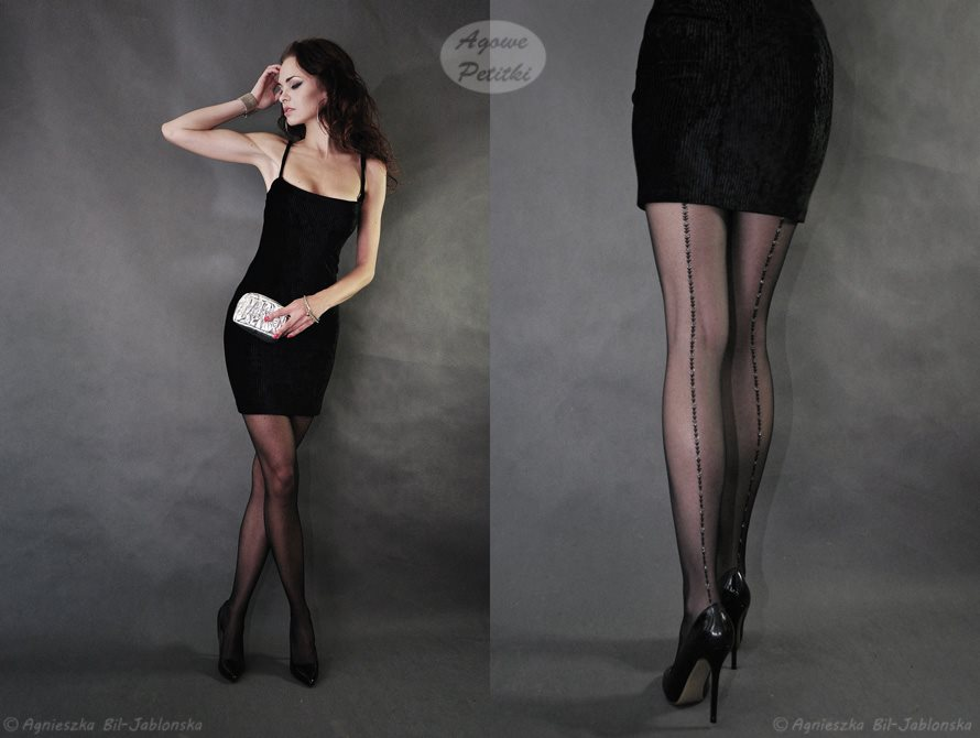 alameda pantyhose by fiore with lurex backseam