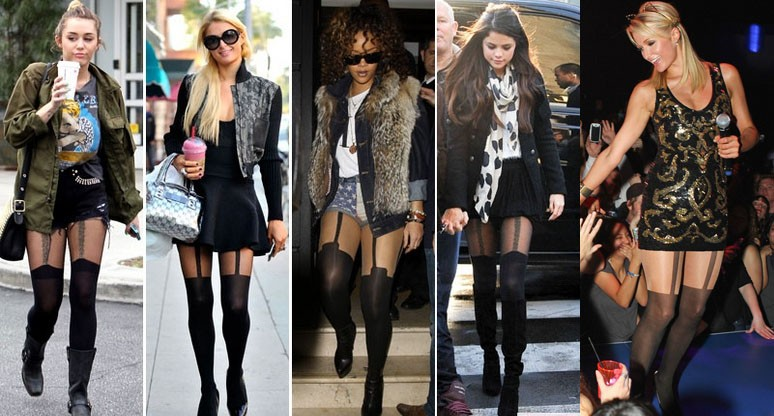 mock stockings pantyhose and celebrities