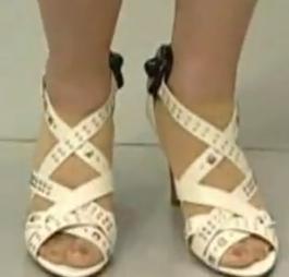 nylon socks and white sandals