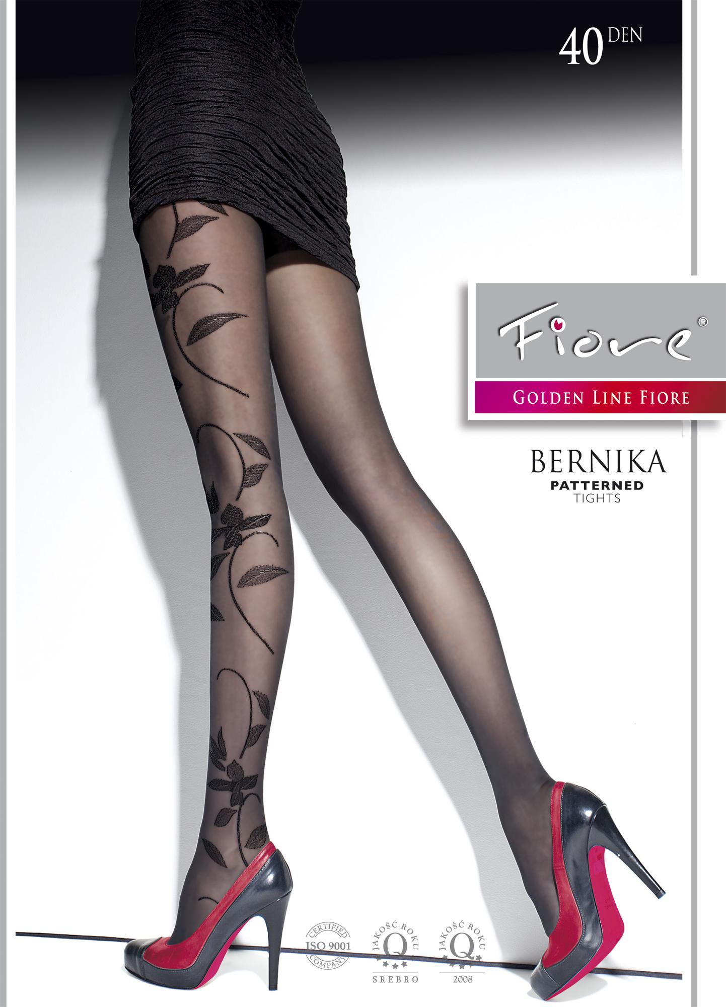 BERNIKA 40 den by Fiore floral tights