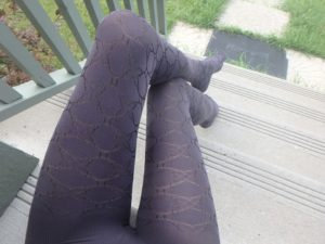 Ofelia by Fiore in plum shade on my legs