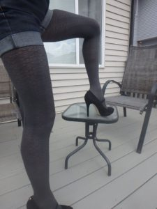 bree 60 den tights by fiore hosiery graphite shade on me 2