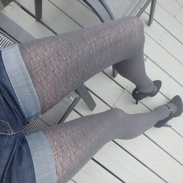 bree 60 den tights by fiore hosiery graphite shade on me 3