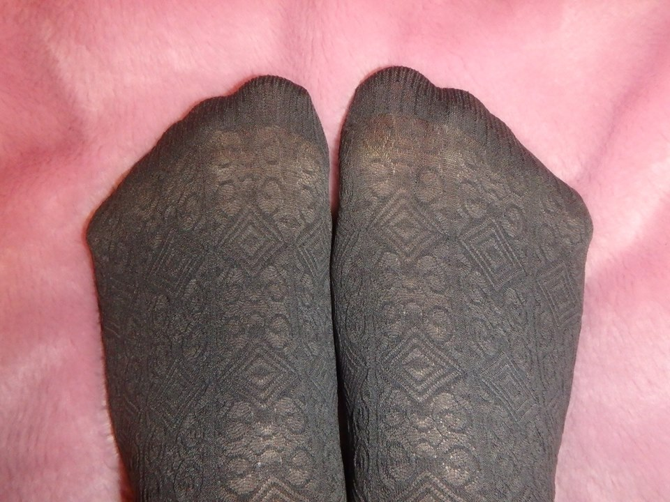 bree pantyhose pattern on the leg Fiore 60 den tights reinforced toes