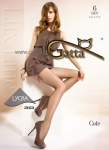 gatta cote ultra sheer tights 6 den lycra 3D
