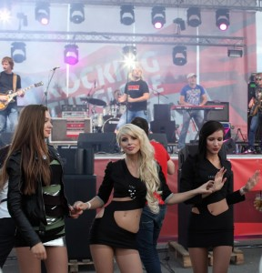 Russian party girls in pantyhose 2