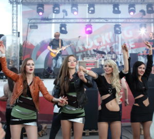 Russian party girls in pantyhose