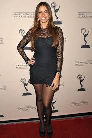 Sofia Vergara in black pantyhose