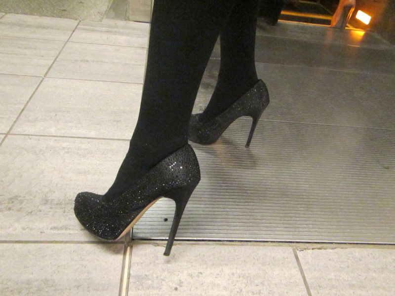 Sparkly shoes at Taboo Show
