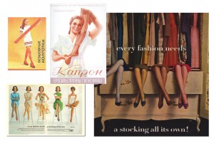 history of hosiery in USSR collage