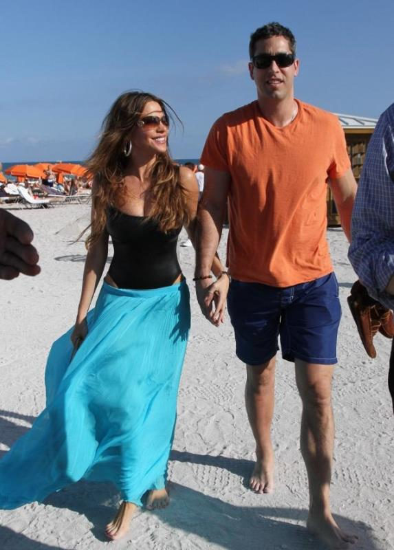 sofia vergara on the beach