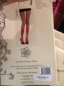 zohara tights are made in China