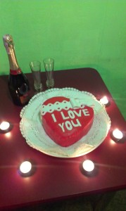 Valentine's Cake I Love You home made