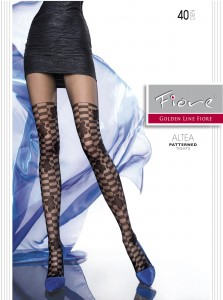 ALTEA 40 den patterned pantyhose