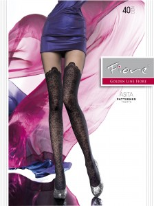 ASITA 40 den Fiore mock stocking imitation tights