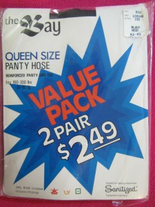 vintage tights queen size - pantyhose XL from The Bay brand