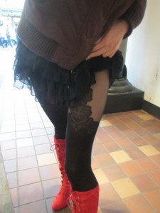 Gladis mock suspender tights by Fiore brand for sale - ship to Canada and to United States