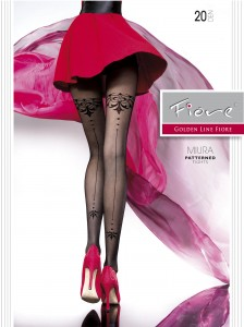 MIURA 20 den backseam pantyhose from Fiore