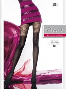 THEMA 30 den mock thigh high imitation tights from Fiore brand