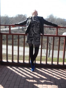 Asita pantyhose by Fiore 3 - blue shoes, mini skirt, patterned tights fashion style