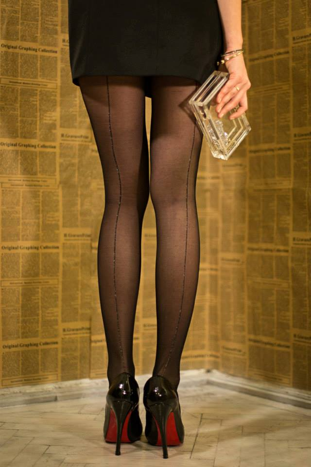 gina pantyhose by Fiore with lurex backseam 1